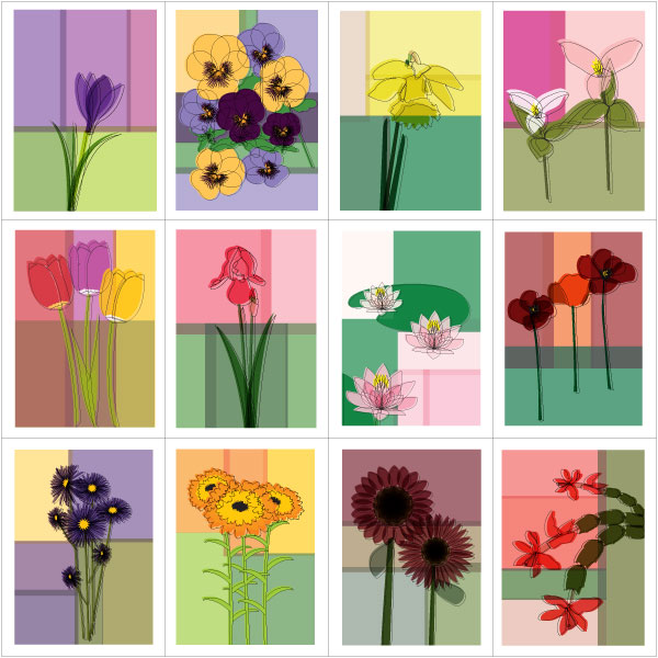 Keep in Touch Calendar Flowers